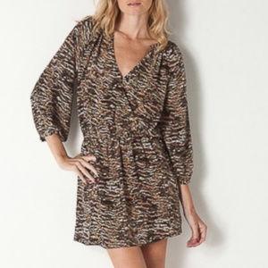 Joie Molly Mirabella Coffee Bean Silk Dress XS